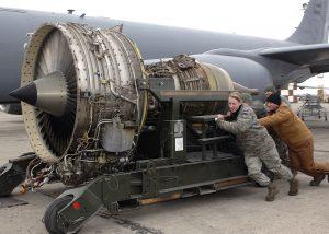 turbofan de un avion